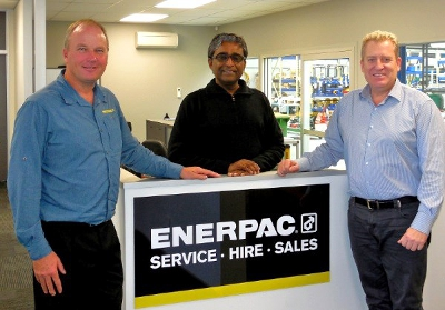 Enerpac regional management visit Jonel's new premises graphic