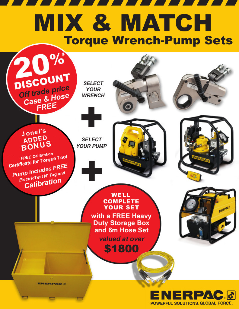 20% off Trade on Torque Sets – Case & Hose Free graphic
