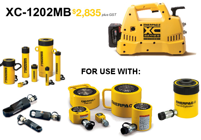 Need Hydraulic Mobility? Check out our Enerpac battery pump promotion! graphic