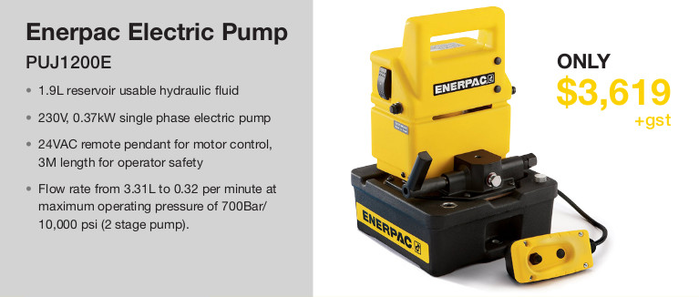 Enerpac Deal – Electric and Hand Pumps graphic